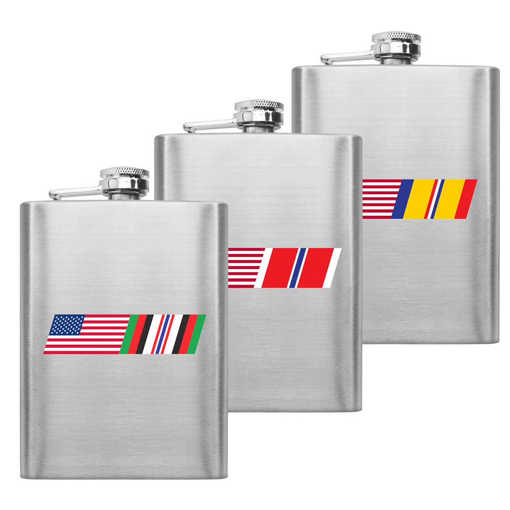 American Flag Ribbon Blend 8 oz. Flasks