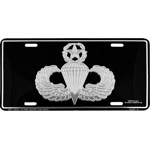Army Master Jump Wings License Plate