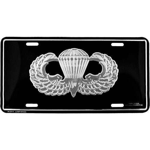 Army Jump Wings License Plate