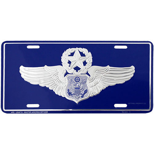 Air Force Master Aircrew Officer License Plate