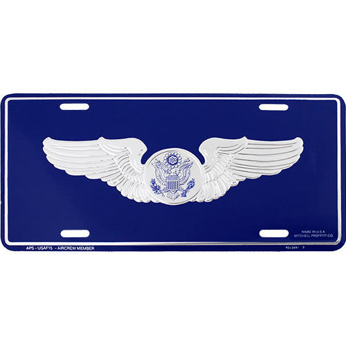 Air Force Aircrew License Plate
