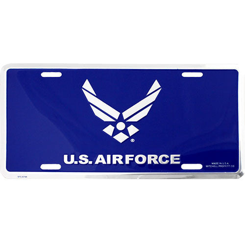 Air Force New Wing Blue License Plate