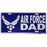 Air Force Dad Blue License Plate