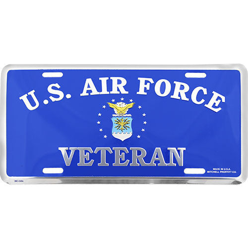 Air Force Veteran Blue License Plate