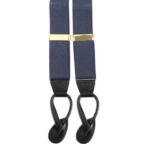 Dress Suspenders With Leather Ends - Adjutant General