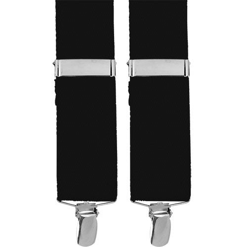 Dress Suspenders With Metal Clips - Black