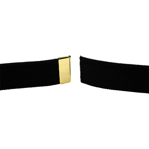 Army Dress Belt - Black Elastic With Gold Tip - Male Size
