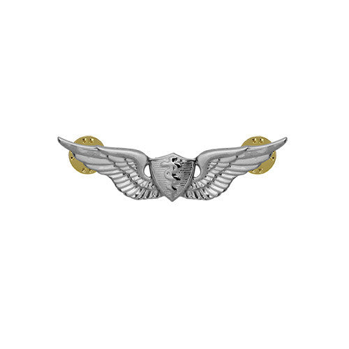Army Miniature Basic Flight Surgeon Badge - Mirror / Chrome Finish