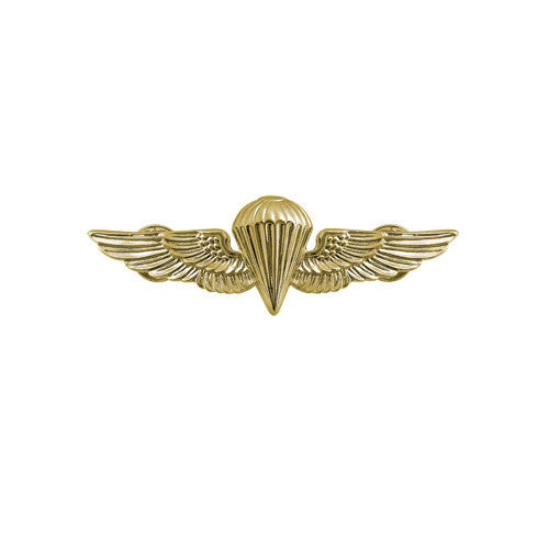 Navy and Marine Corps Miniature Parachutist Insignia - Gold Finish