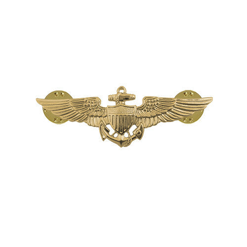 Navy Miniature Naval Aviator Insignia - Gold Finish