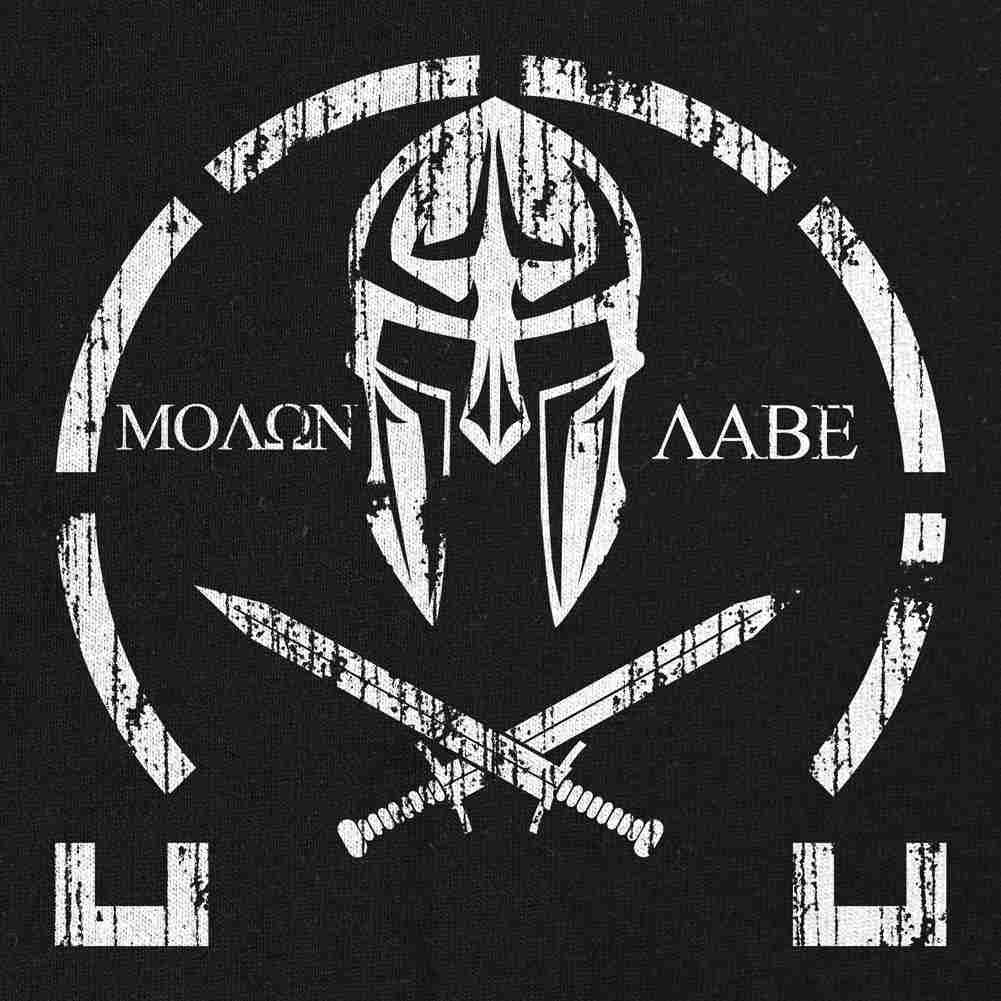 Molon Labe Distressed T-Shirt - Black - Small