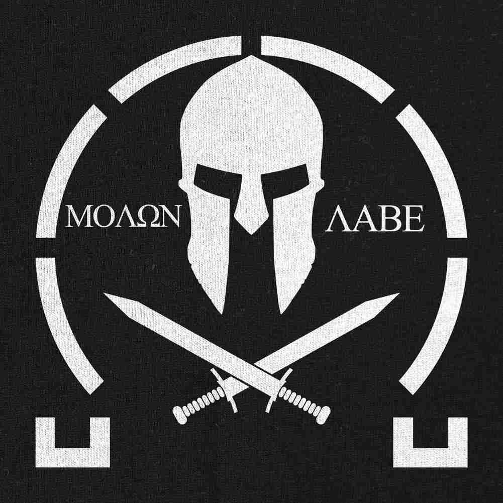 Molon Labe T-Shirt Black Small
