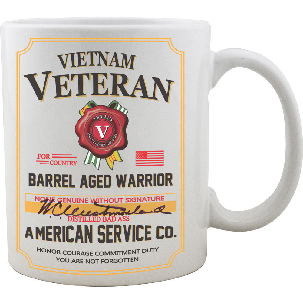 Vietnam Veteran Whiskey Label Mug