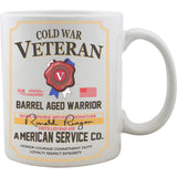 Cold War Veteran Whiskey Label Mug