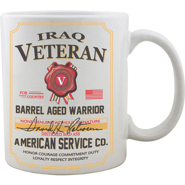 Iraq Veteran Whiskey Label Mug