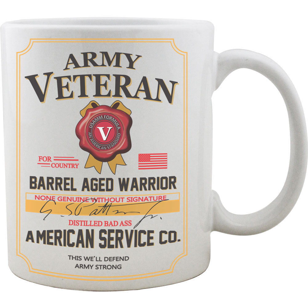 Army Veteran Whiskey Label Mug