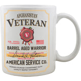 Afghanistan Veteran Whiskey Label Mug