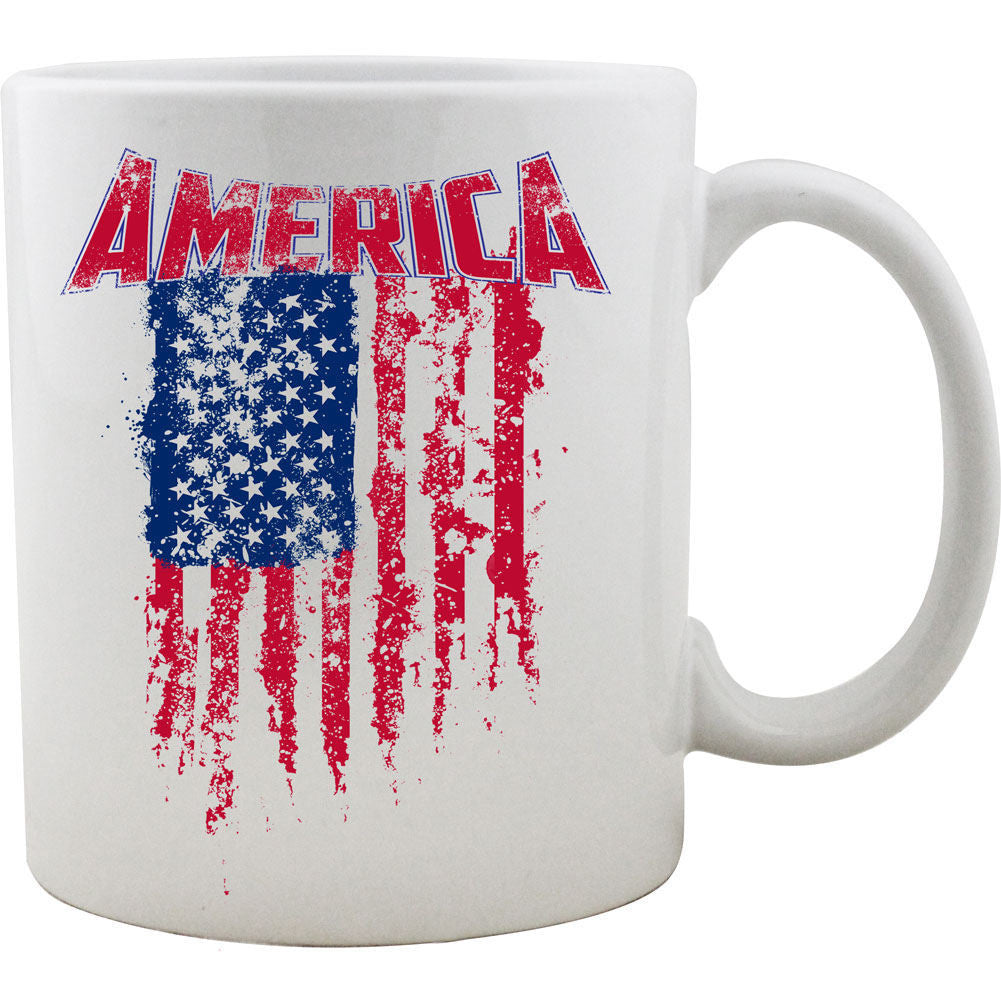 Tattered American Flag Mug
