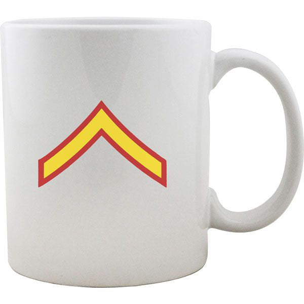 Marine Corps Rank Mugs - Enlisted