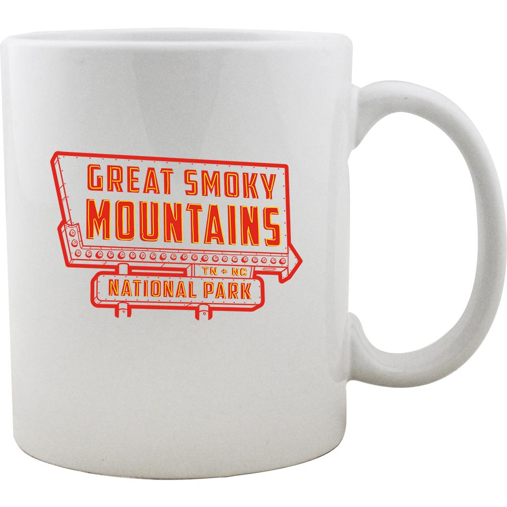 Great Smoky Mountain Vintage Neon Sign Mug