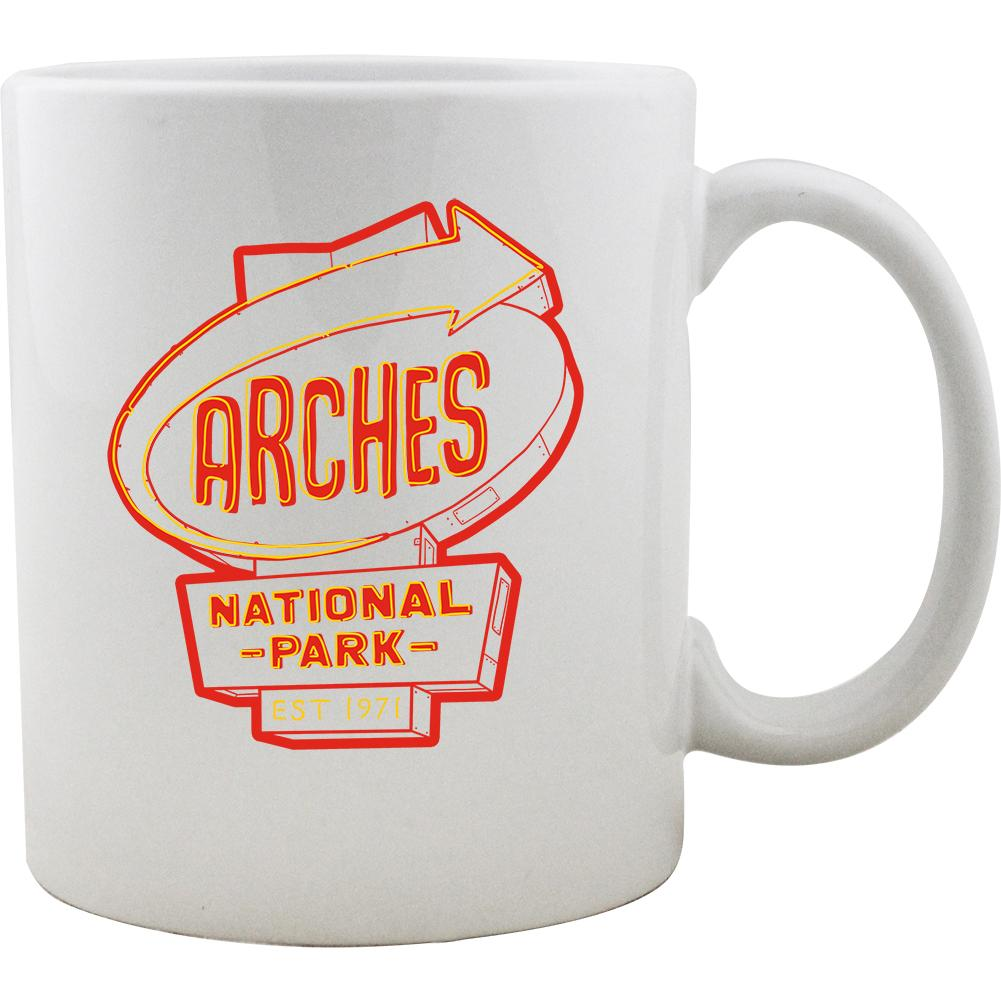 Arches Vintage Neon Sign Mug