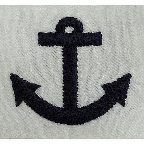 Navy Seaman Training Apprentice Rating Badge - White Poplin