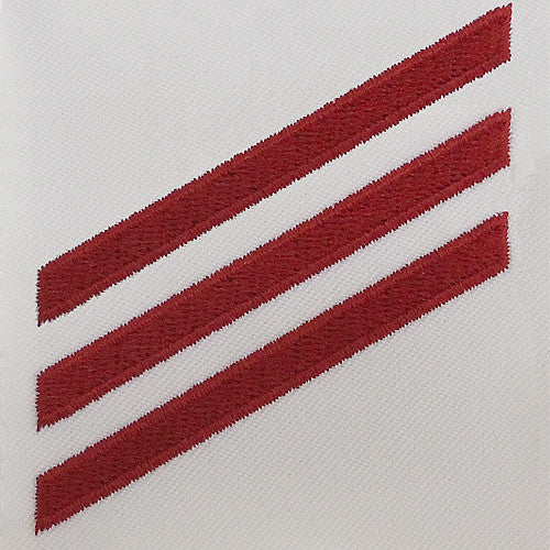 Navy E-3 Fireman Striker Rating Badge - White Poplin