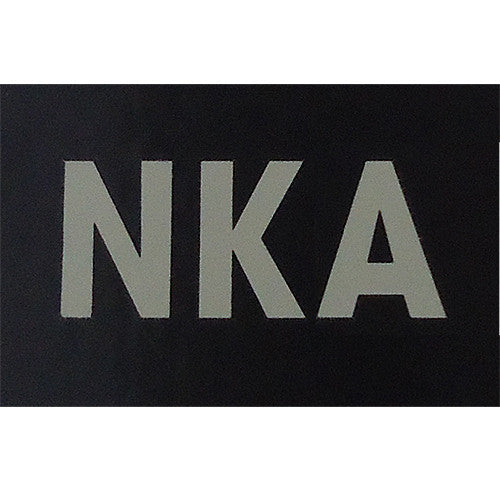 NKA  - No Known Allergies Infrared Patch