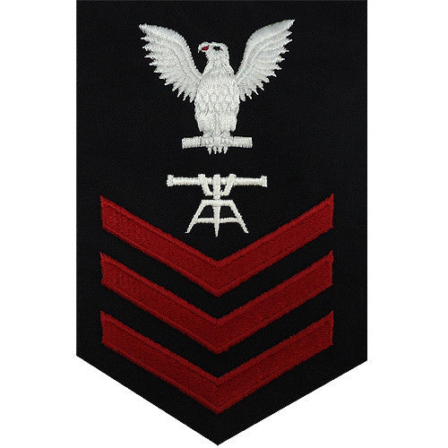 Navy E-4/5/6 Fire Control Technician Rating Badge - Blue Serge