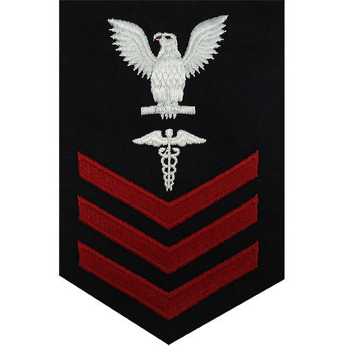 Navy E-4/5/6 Hospital Corpsman Rating Badge - Blue Serge
