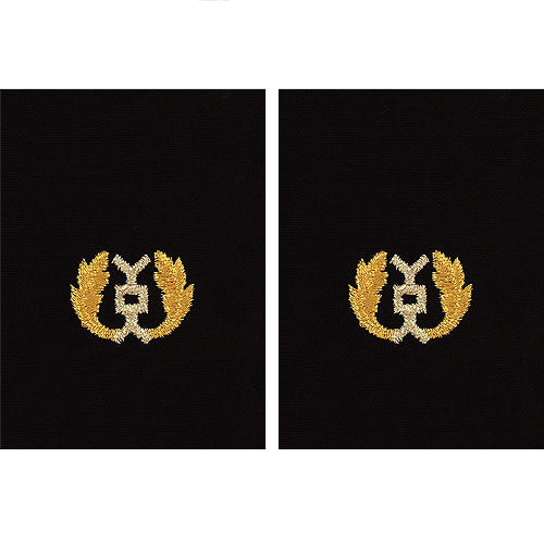 Navy Gold on Black Sleeve Device - Judge Advocate