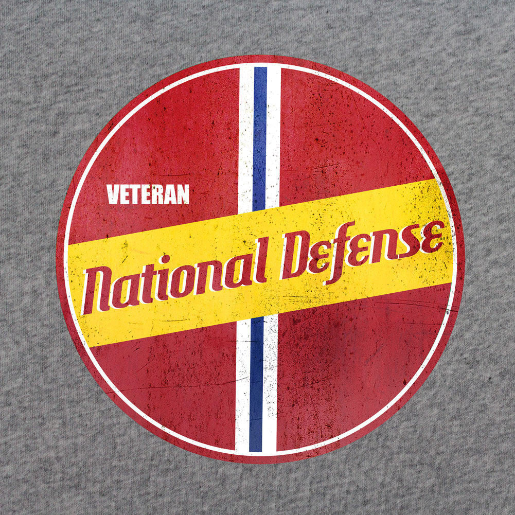 Retro National Defense Service T-Shirt - Sm - Heather Grey