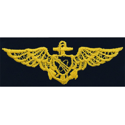 Navy Astronaut (Aviator) Embroidered Coverall Breast Insignia