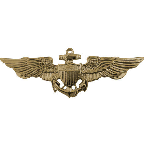Navy Naval Aviator Insignia - Gold Finish