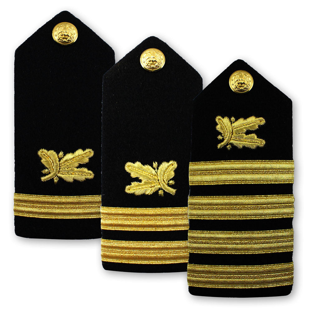 Navy Male Hard Shoulder Board - Supply Corps