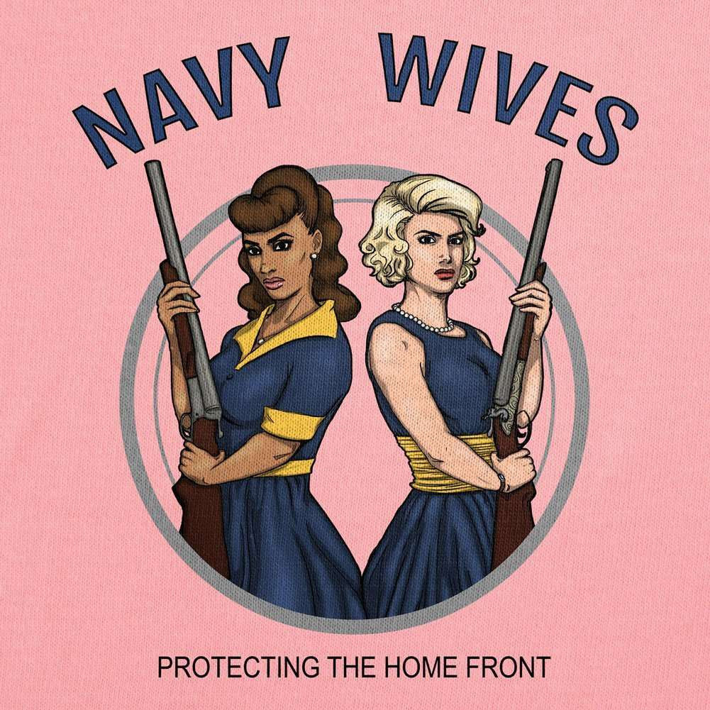 Navy Wives Protecting the Homefront T-Shirt - Red - Small