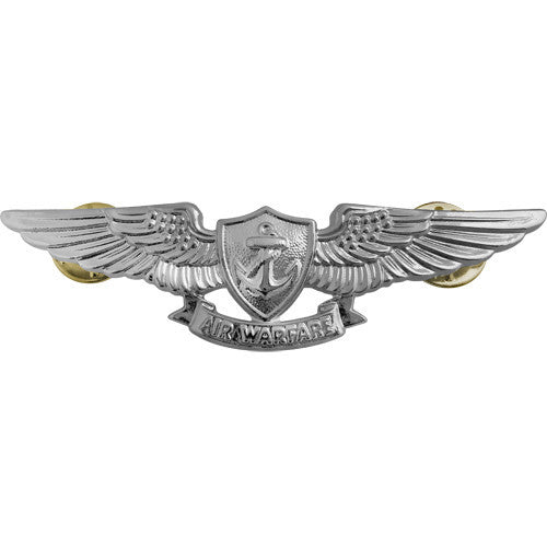 Navy Enlisted Aviation Warfare Specialist Insignia - Mirror / Chrome