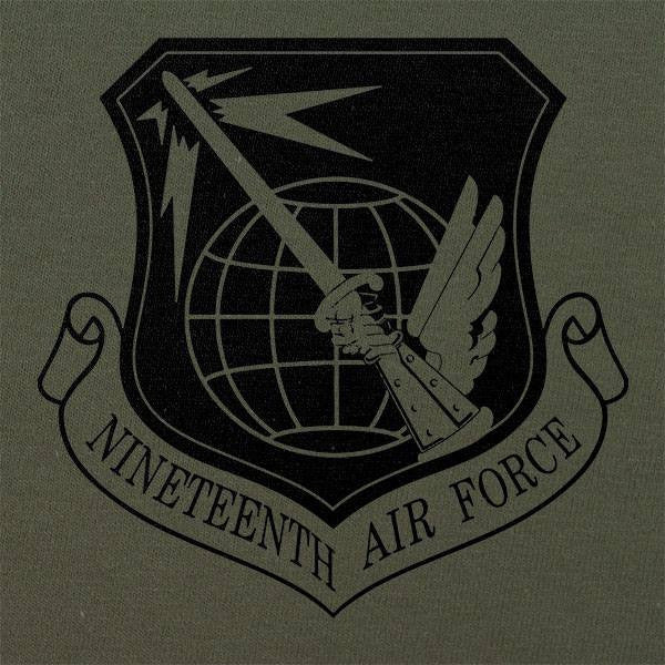 19th Air Force Subdued Patch T-Shirt