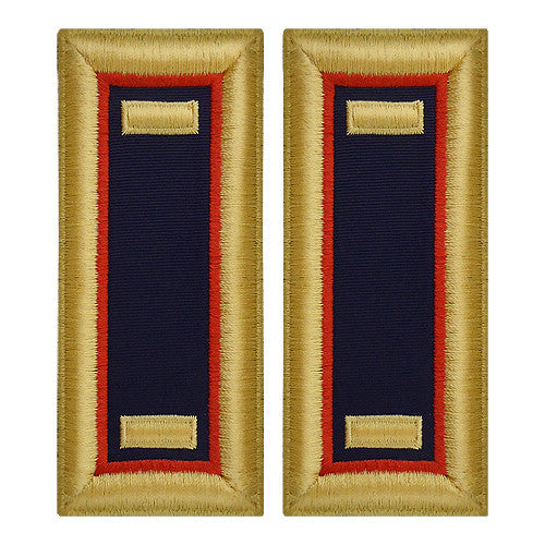 O-1 2nd Lieutenant Army Dress Blue Shoulder Board Rank (Female Size) - ADJUTANT GENERAL