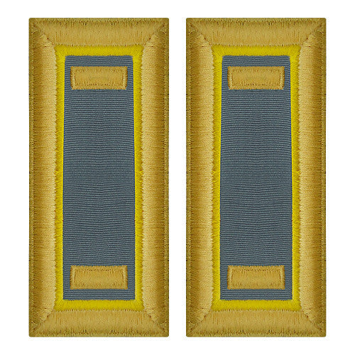 O-1 2nd Lieutenant Army Dress Blue Shoulder Board Rank (Female Size) - FINANCE