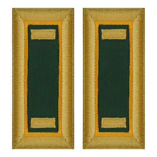 O-1 2nd Lieutenant Army Dress Blue Shoulder Board Rank (Female Size) - MILITARY POLICE