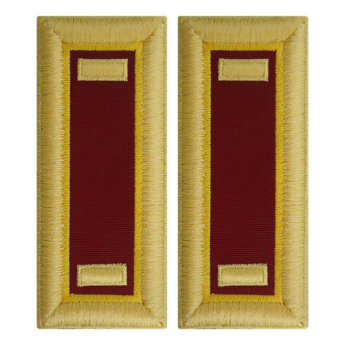 O-1 2nd Lieutenant Army Dress Blue Shoulder Board Rank (Female Size) - TRANSPORTATION