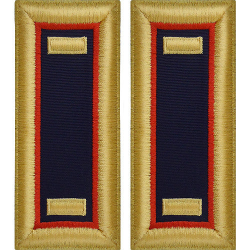 O-1 2nd Lieutenant Army Dress Blue Shoulder Board Rank (Male Size) - ADJUTANT GENERAL