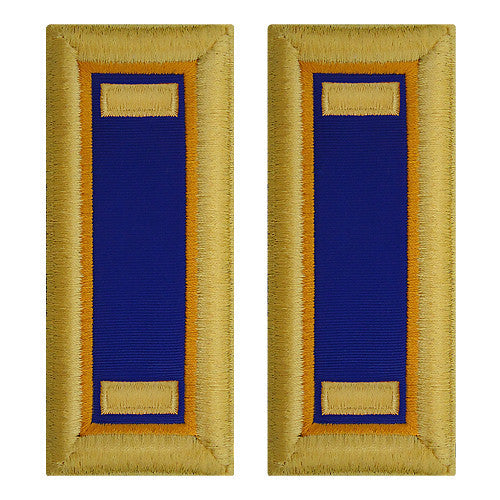 O-1 2nd Lieutenant Army Dress Blue Shoulder Board Rank (Female Size) - AVIATION