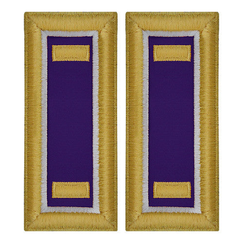 O-1 2nd Lieutenant Army Dress Blue Shoulder Board Rank (Female Size) - CIVIL AFFAIRS