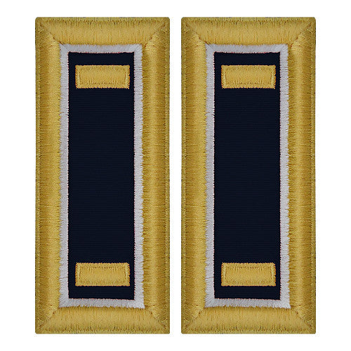 O-1 2nd Lieutenant Army Dress Blue Shoulder Board Rank (Female Size) - JUDGE ADVOCATE