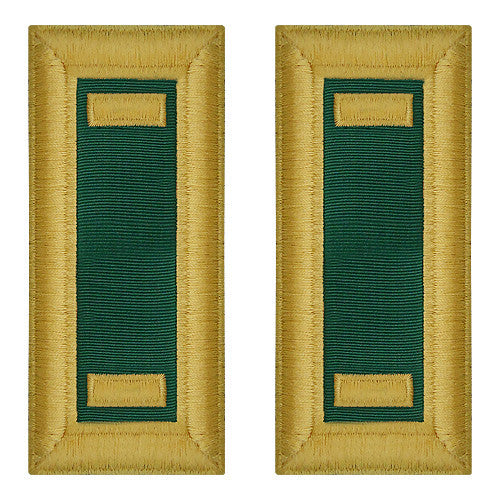 O-1 2nd Lieutenant Army Dress Blue Shoulder Board Rank (Female Size) - SPECIAL FORCES