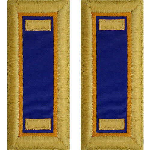 O-1 2nd Lieutenant Army Dress Blue Shoulder Board Rank (Male Size) - AVIATION