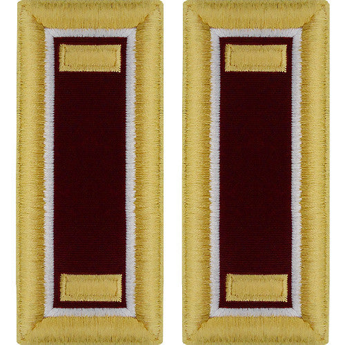 O-1 2nd Lieutenant Army Dress Blue Shoulder Board Rank (Male Size) - MEDICAL AND VETERINARY