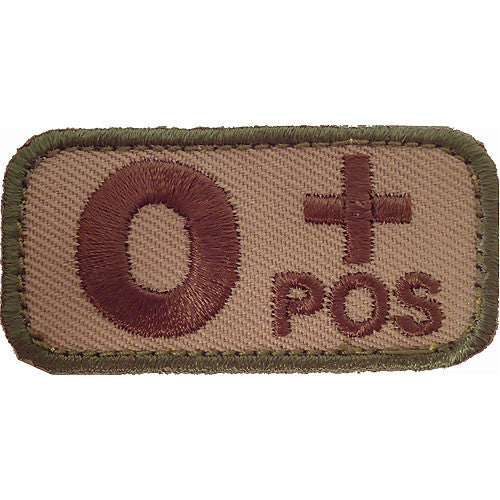 O Positive Blood Type MultiCam (OCP) Patch